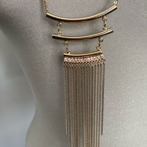 Cute and delicate two chain long necklace